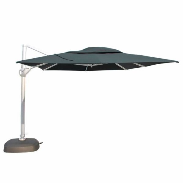 Parasol Hacienda charcoal wit frame 300x400 cm - 4 Seasons Outdoor