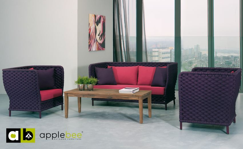 Applebee Crochet loungeset Purple Burgundy