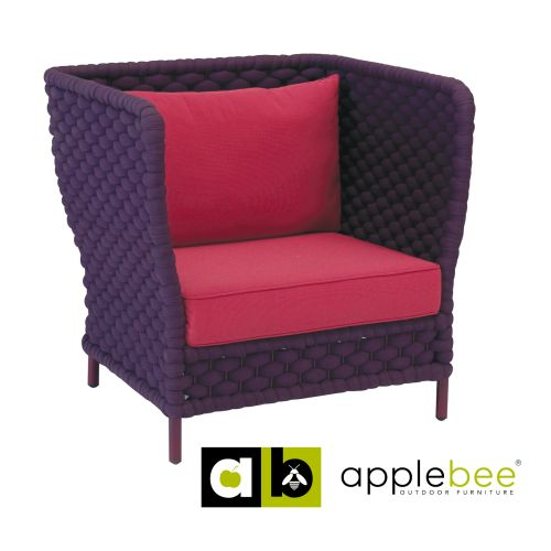 Loungestoel Crochet Purple Burgundy