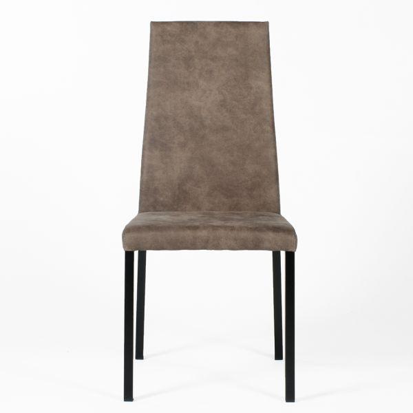 Elegante bruine eetkamerstoel Bellis - Dekimpe