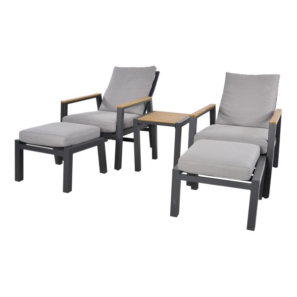 Outdoor Living loungeset duoset Coda charcoal
