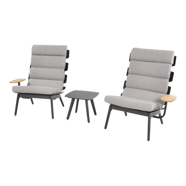 Outdoor Living loungeset duoset Ventus negro