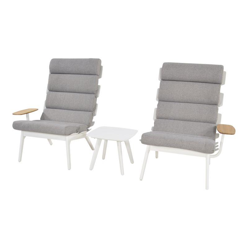 Outdoor Living loungeset duoset Ventus white