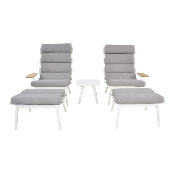 Outdoor Living loungeset duoset Ventus white