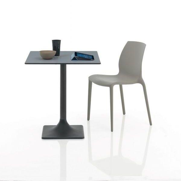 Stapelbare kunststof eetkamerstoel Hidra licht grijs - Bontempi (set van 2)