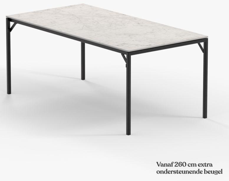 Witte Felix Carrara keramiek eettafel - Unit 14