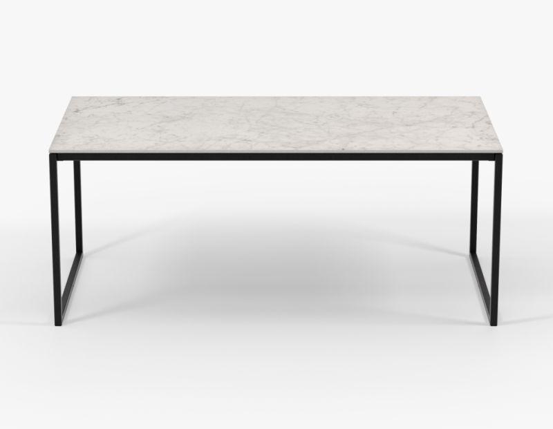 Witte eettafel Hugo Carrara keramiek - Unit 14