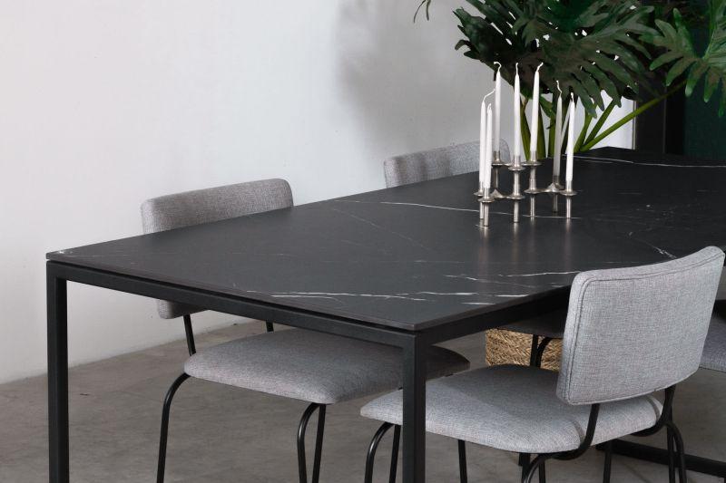 Zwarte eettafel Hugo Nero Marquina keramiek- Unit 14