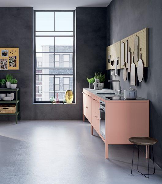 Fantin Frame keuken blok 3-delig met oven - Ruby Red
