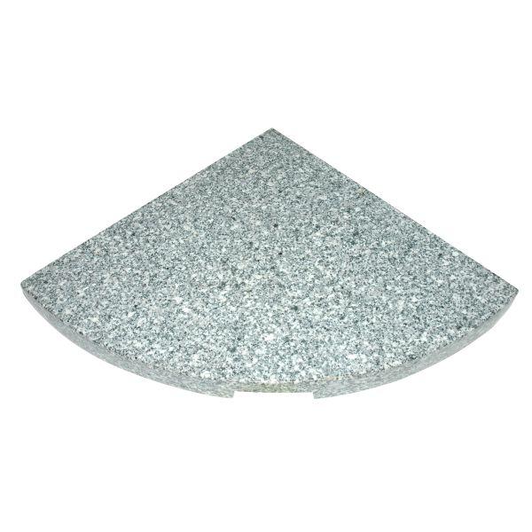 Outdoor Living granietplaat kruisvoet 25kg grijs