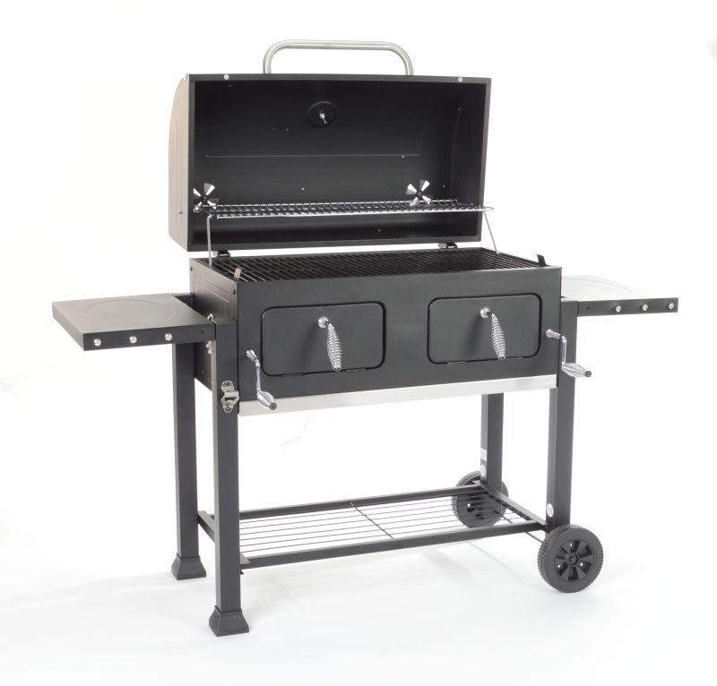 Grillchef houtskoolbbq grillwagen xxl