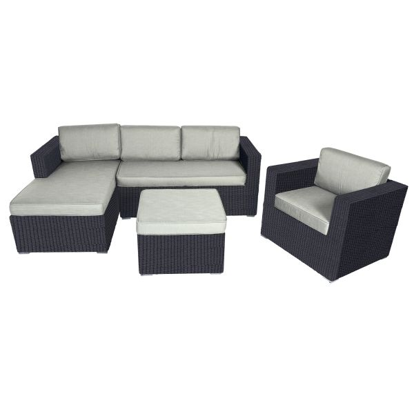 Hoekbank loungeset Jazz Black