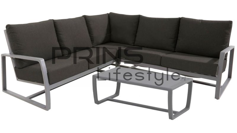Taste by 4SO Hoek loungeset Mauritius - Slate Grey
