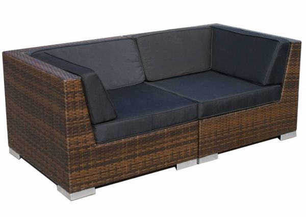 2-delige loungeset Moray bruin wicker