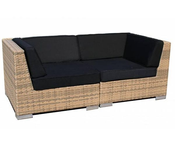 2-delige loungeset Moray Cappuccino wicker
