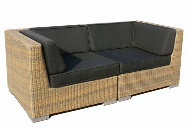 2-delige loungeset Moray cappuccino rond wicker