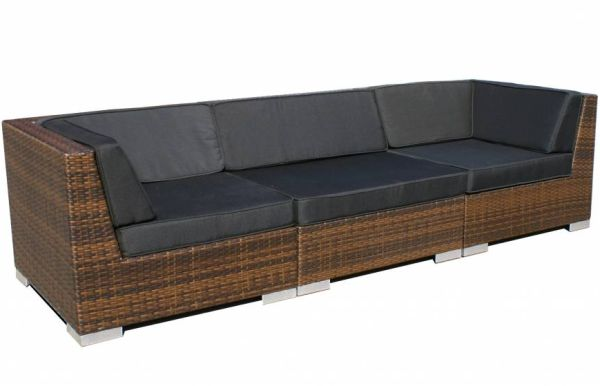 Loungeset Moray 3-delig - bruin wicker