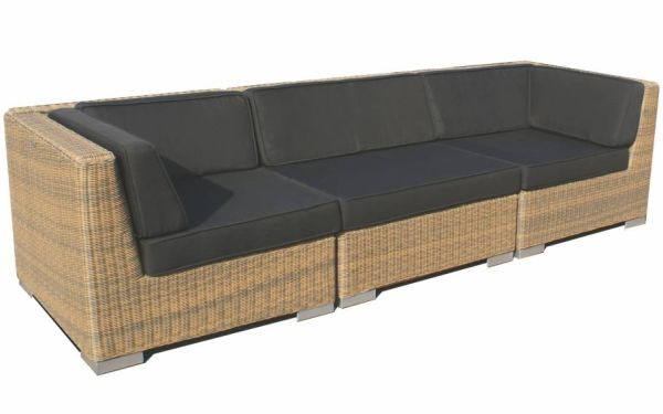 Loungeset Moray 3-delig - cappuccino rond wicker