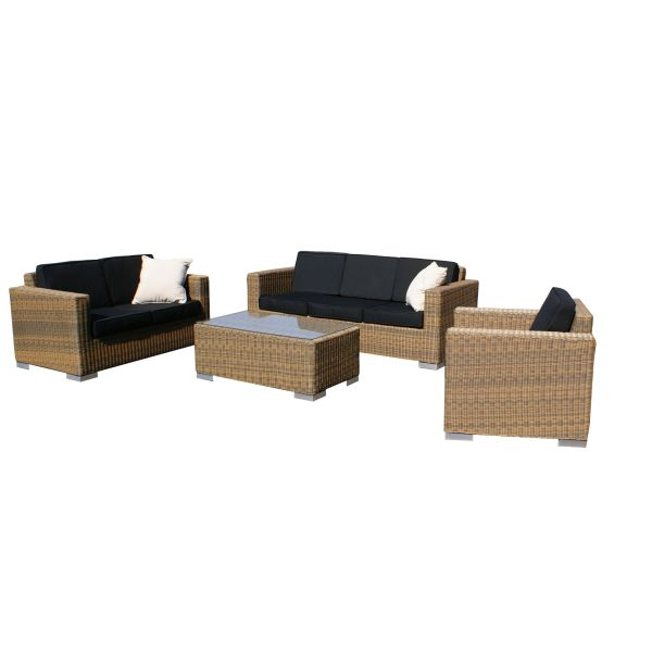 Loungeset Cancun cappuccino rond