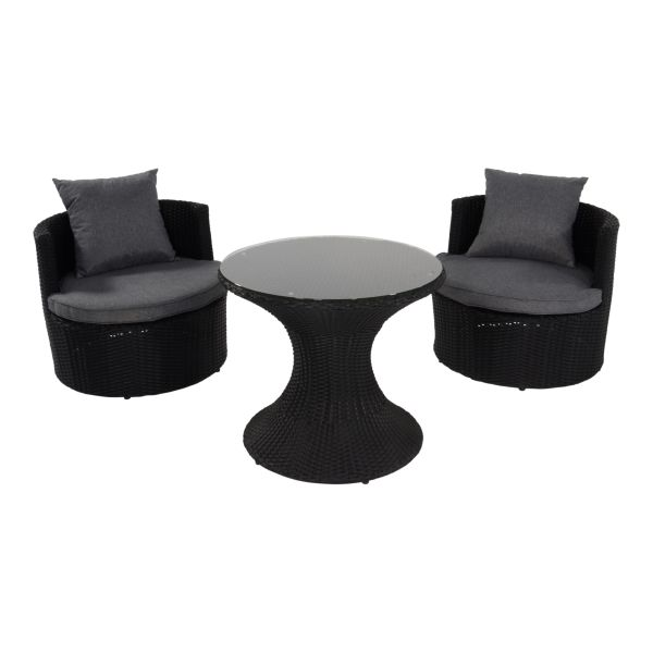 Outdoor Living balkonset Ancona Black