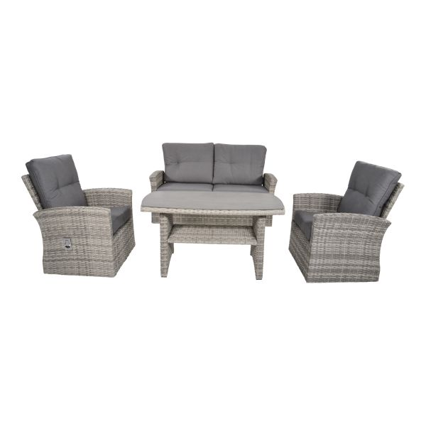 Verstelbare Outdoor Living loungeset dining Valencia Smoke