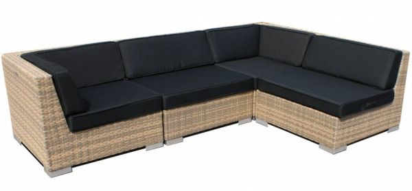 Loungeset Moray 4-delig - cappuccinno plat wicker