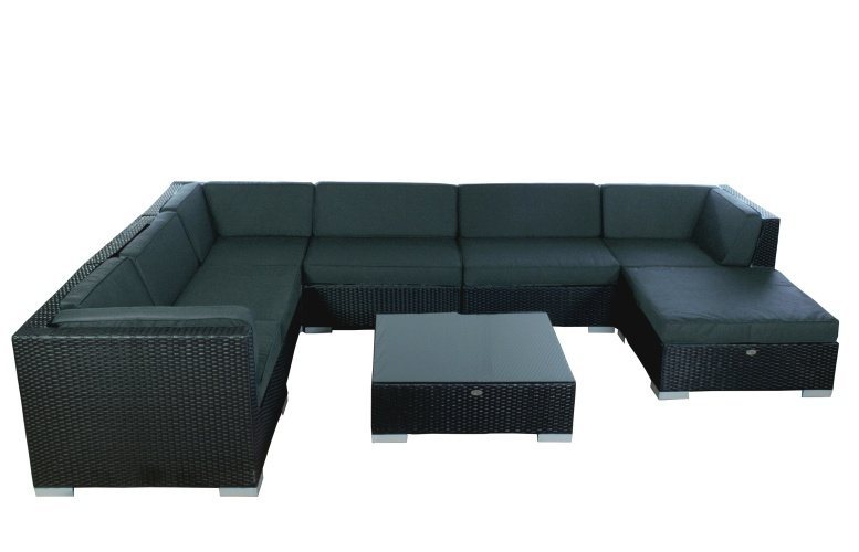 Loungeset Moray zwart