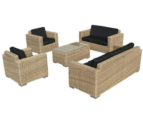 SVG Outdoor loungeset Parijs naturel serie IV
