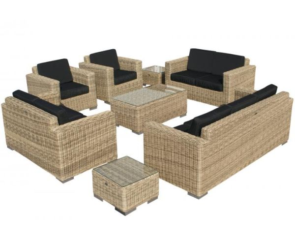 SVG Outdoor loungeset Parijs naturel serie VI