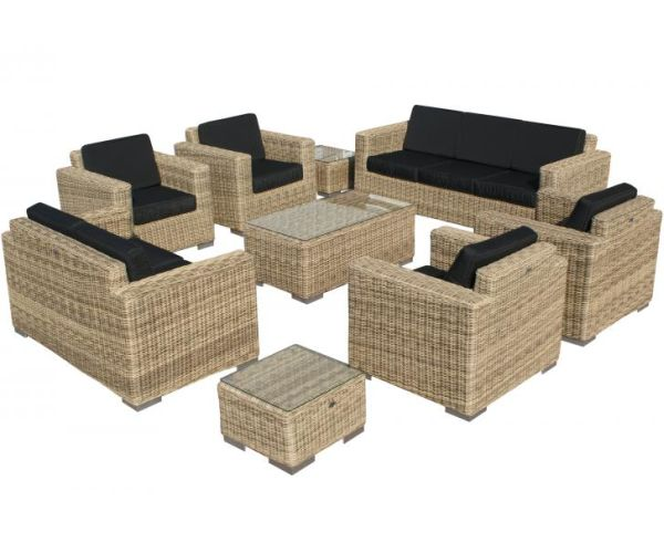 SVG Outdoor loungeset Parijs naturel serie VII