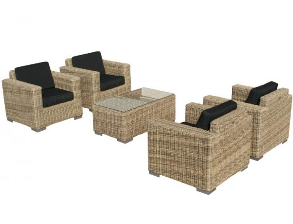 SVG Outdoor loungeset Parijs naturel serie VIII
