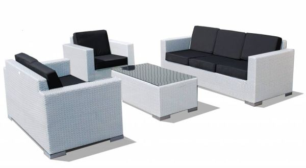 Loungeset Parijs wit