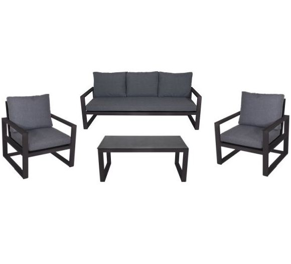 Outdoor Living loungeset Pina Colada negro