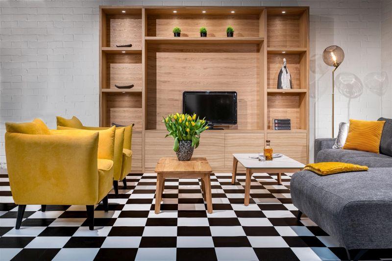 Loungestoel Fiebe geel - Dekimpe