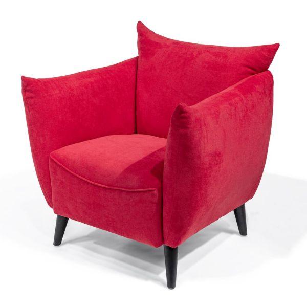 Loungestoel Fiebe rood - Dekimpe
