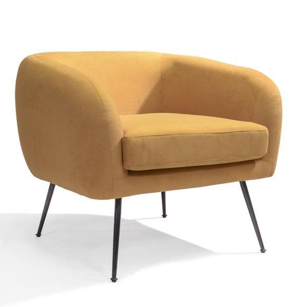Loungestoel Solan geel - Dekimpe