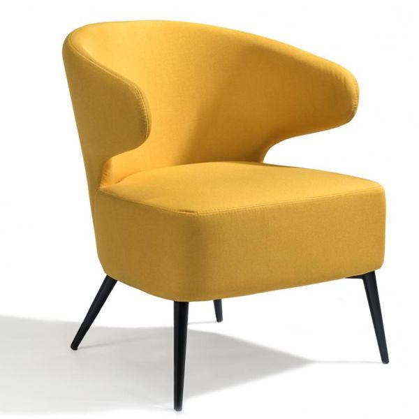 Loungestoel Viola geel - Dekimpe
