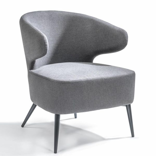 Loungestoel Viola lichtgrijs - Dekimpe