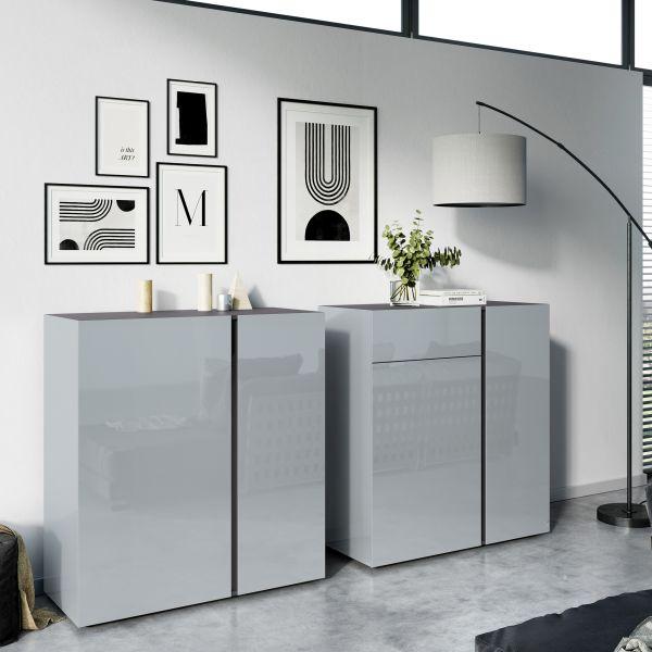 Commode Mesa zilvergrijs grafiet - Germania