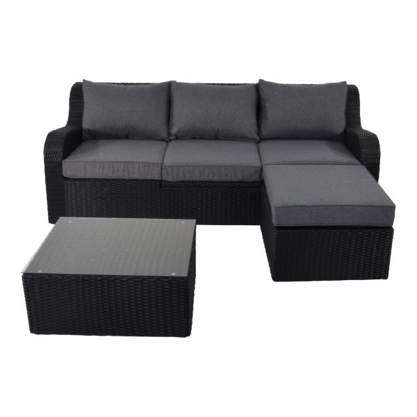 Outdoor Living loungeset Pandora Black