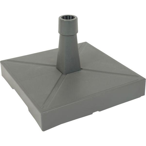 Parasolvoet kunststof met beton gevuld antraciet 30kg