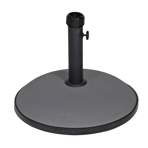 Parasolvoet rond beton grijs 30kg