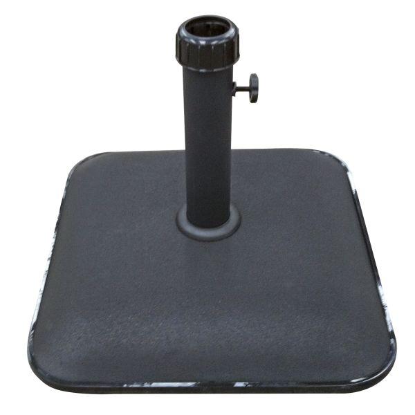Parasolvoet vierkant beton zwart 25kg