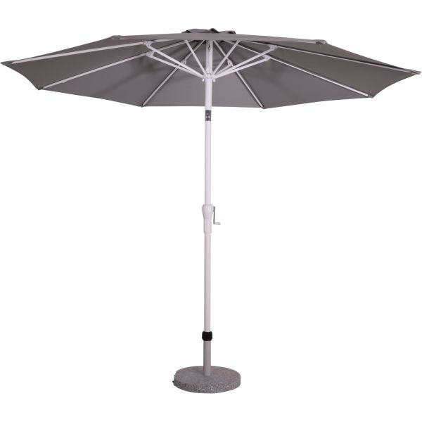 Outdoor Living Libra stokparasol �300 cm met wit frame - Rock