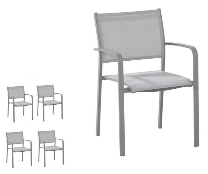 Set van 4 tuinstoelen Tosca slate grey - Taste by 4SO