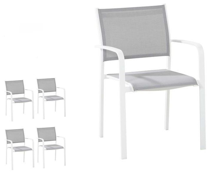 Set van 4 tuinstoelen Tosca White- Taste by 4SO