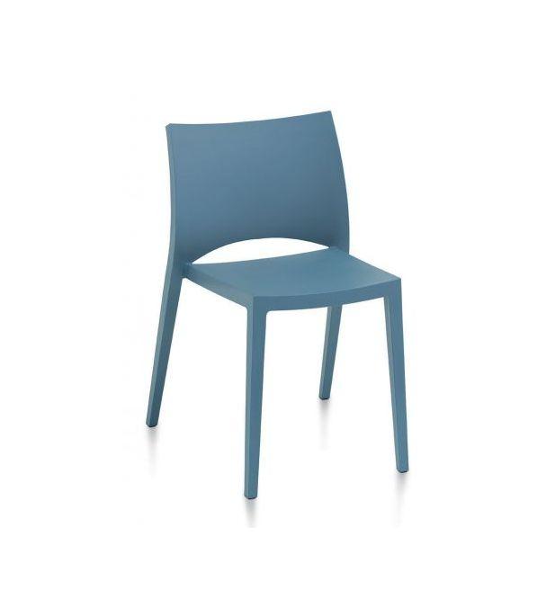 Stapelbare eetkamerstoel Aqua blauw - Bontempi (set van 2)