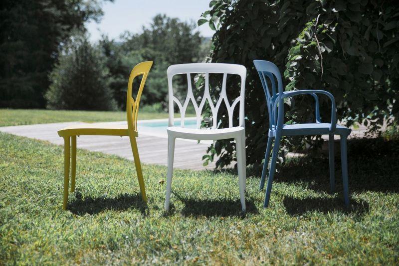 Stapelbare kunststof tuinstoel Galaxy wit - Bontempi (set van 2)