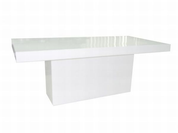 Table Glossy White Large
