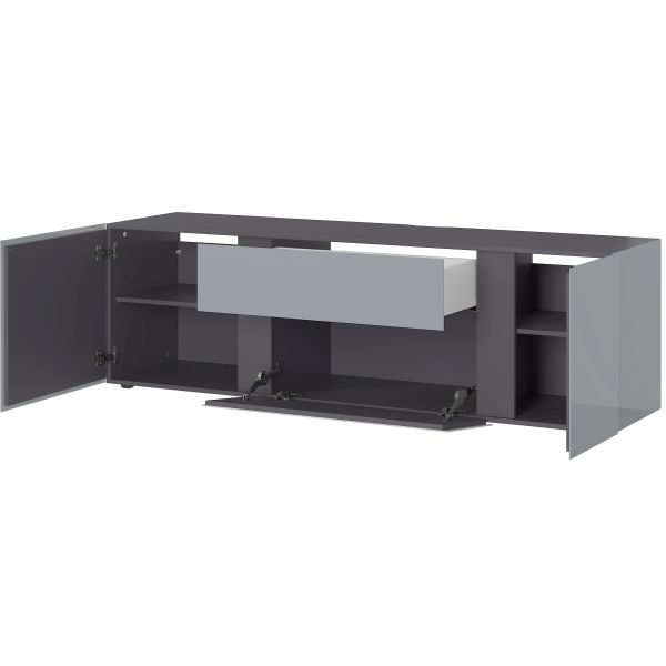 Tv-meubel Mesa zilvergrijs grafiet 180 cm - Germania